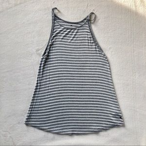 Grey & White Striped Tank✨